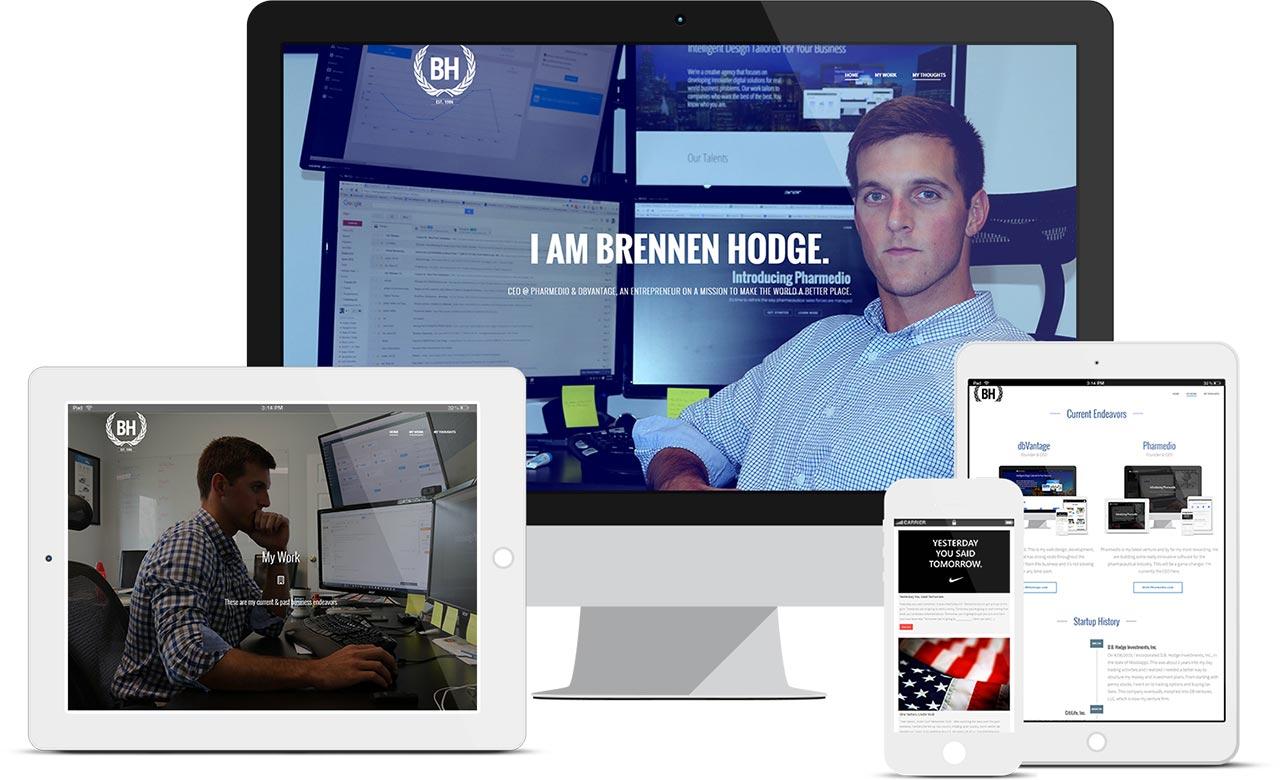 Brennen Hodge's Website Mockup